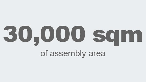 30,000 square meters of assembly area